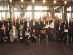 The group visit the European Court of Justice in Luxembourg.