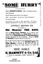An advert for kosher meat which appeared in the local press.