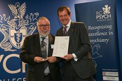 Prof Rob Poole (right) with Alistair Campbell.