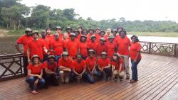 MSc Tropical Forestry students with the SENRGy teaching team at the FORIG headquarters in Kumasi, Ghana, July 2017 : (© Genevieve Agaba)