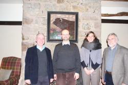 Chwith i dde: Mr. Hefin Gwilym, Dr. Stefan Machura, Prof. Vera Trappmann & Prof. Howard Davis