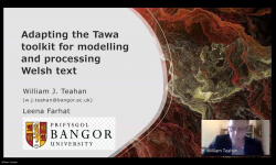 Dr William Teahan presenting the Tawa toolkit