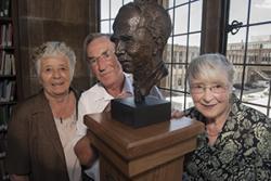 left-right:   Nanw Williams, Owain Tudur and Sian Williams, children of  Bob Owen, Croesor .