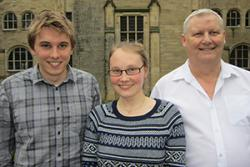 Student Conference Organisers (L-r) Peter Davies Anna Olsson Rost and Martin Hanks.
