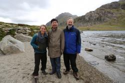 Sophie Willams, Chen Jin and Stephen Blackmore