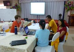 Group discussions in class during the training course in Northwest Vietnam. Photo by Gen Lamond (June 2015)