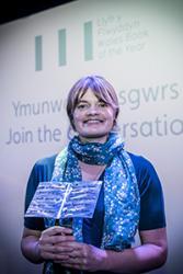 Alys Conran with the Welsh Book of The Year Award 2017: © Llenyddiaeth Cymru / Camera Sioned