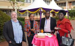 Fergus Sinclair, Susan Chomba (MSc Agroforestry 2008), Moses Nyongesa (PhD Crop and Soil Science 2014) and Isabell Biketi