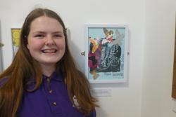 Art Competition winner Annabel Blight and her winning entry.