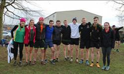 Bangor University Athletics Team after their victory in the Grand Prix North Wales Cross-Country league