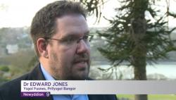 Dr Edward Jones ar BBC Cymru yn ddiweddar