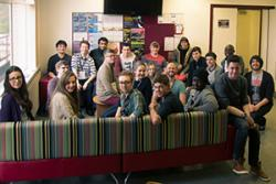 Course delegates with their tutors and mentors at the School.