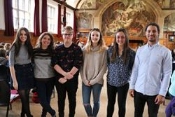 Some of the Bangor University Modern Languages students who participated as mentors in the Scheme.