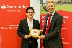 Luke Ellis, UK Relationship Director for Santander Universities presented the award at the recent BEA celebrations.