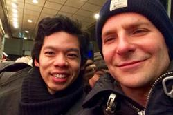 HanJie was also lucky enough to meet  actor and producer, Bradley Cooper.