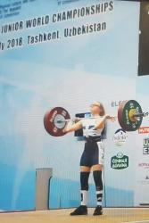 Catrin competing in Uzbekistan recently.