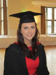 Ceri Wyn Jones was named as the student with the best performance in any Bangor Business School degree