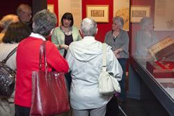 Dr Sue Niebrzydowski leading a 'gallery tour'.
