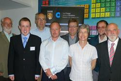 From left to right: Prof Mark Baird, Dr Mark Pitts, Bangor University; Ivor Langley, Tropical Disease Unit, Liverpool School of Tropical Medicine; Dr Chris Gwenin, Bangor University; Dr Edward Guy, Public Health Wales; Sally Williams, Dr Martin Vordermeie