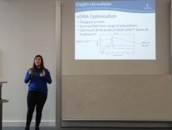 Chloe presenting at the BES Ecological Genetics Group meeting