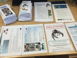 Crayfish Count Kits being prepared