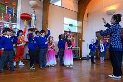 A Chinese dance class at Our Lady's School, Bangor