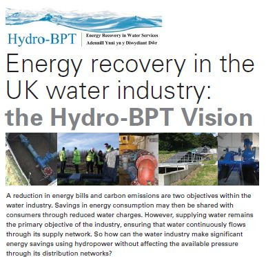 BHA Spotlight - Hydro-BPT Project: Energy recovery in the UK water industry