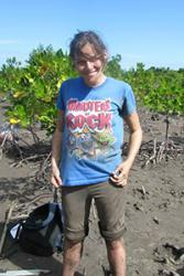 Charli Mortimer among mangroves in East Africa.