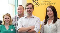 New Coleg Cymraeg Lecturers (l-r) :Eleri Jones, Gerwyn Owen, OwainWyn Jones and Manon Wyn Williams