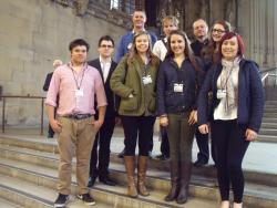 Students in the Houses of Parliament on Budget Day 2013