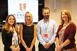 The four successful physiotherapists: Maddy Nicholson, Cathy Wynne, Rob Caine and Ann Harpum.