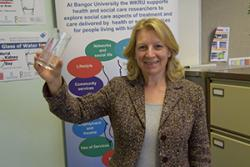 Prof Jane Noyes raises a glass for World Kidney Day.