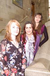 Left to right: Louise Brown, Jodie Calk and Sarah-Jane Farrant