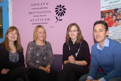 Aimee Anthony and Dawn Owen called in at the School of Psychology to visit Dr Elin Walker Jones and Dr Carl Hughes following their first term as practitioners working at local schools.