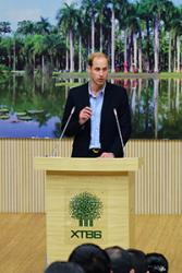HRH The Duke of Cambridge, closing the Conference.: Image courtesy of  XTBG Janpeng Wan.