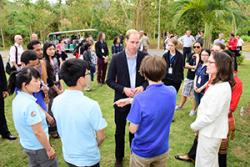 HRH The Duke of Camridge talking with Sam Herniman, a 3rd year Environmental Conservation student.: Image courtesy of  XTBG Janpeng Wan.
