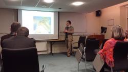 Soran Qader delivering his presentation on Uti Possidetis