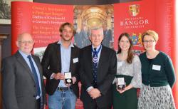 (L-R): Prof Graham Upton, Eduardo Bellomo, Prof Philip Ernest Ogden, Aoife Fitzpatrick and Prof Carol Tully