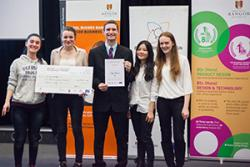 Enterprise by design winning team for 2016 were  'Innovation' )left - right) are Zehra Merve Okhiz, Kat Atkinson, Andy Leavers, Guidan Ke and Paula Noon.