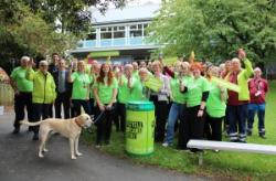Waste Awareness Week got off to a flying start with the launch of the Every Can Counts bins - this one is at the Ffriddoedd Student Village.