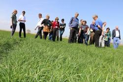 The workshop included a tour of the DLF breeding station in Hladke Zivotice