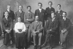 The University's first Forestry class in 1904.