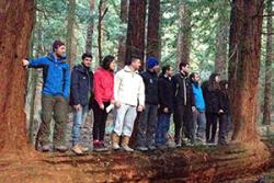 A current Forestry group on a field trip.