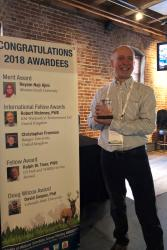 Prof Chris Freeman received his latest Award in Denver.
