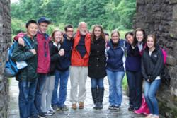 The Fulbright students with Bangor Course Director, Tecwyn Vaughan Jones