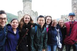 The Fulbright students visit Conwy Castle