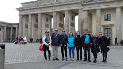 Some of the students and staff outside the Brandenburg Gate