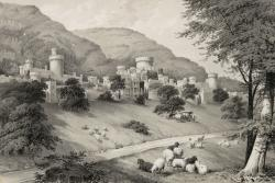 Gwrych castle and its surrounding landscape.