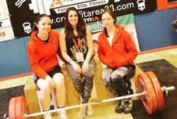 From left: Tiffany Brannan, Hannah Powell and Welsh team mate Stephanie Owens