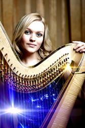 Harpist, Hannah Stone, who will perform with Sir Bryn Terfel.